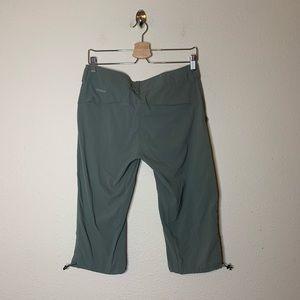 Columbia Omni Shield Green Crop Cargo Hiking Pants